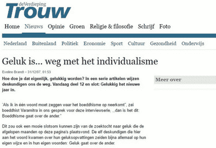 Trouw. Geluk is .....